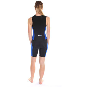 Dare2Tri Frontzip Trisuit Damen black/blue
